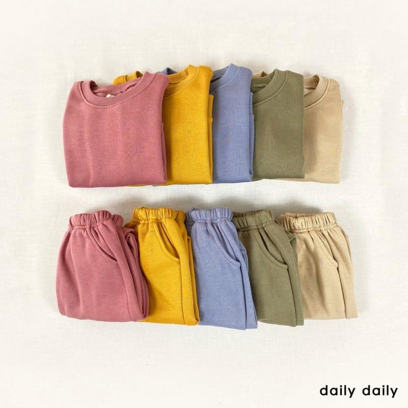 DAILY DAILY - Korean Children Fashion - #Kfashion4kids - Everyday Fleece Top Bottom Set  - 11