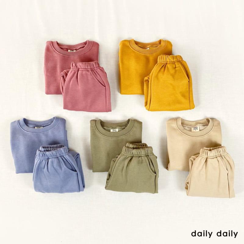 DAILY DAILY - Korean Children Fashion - #Kfashion4kids - Everyday Fleece Top Bottom Set  - 12