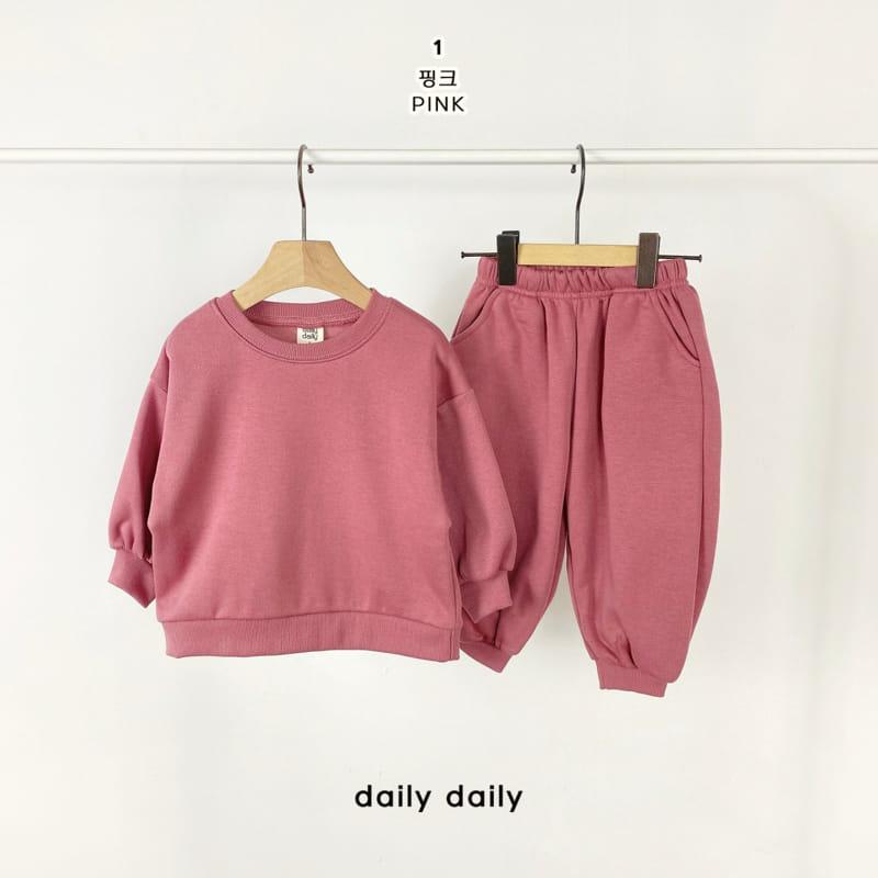 DAILY DAILY - Korean Children Fashion - #Kfashion4kids - Everyday Fleece Top Bottom Set  - 2