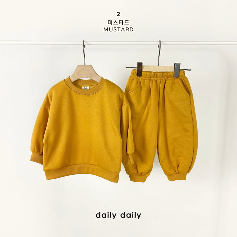 DAILY DAILY - Korean Children Fashion - #Kfashion4kids - Everyday Fleece Top Bottom Set  - 3
