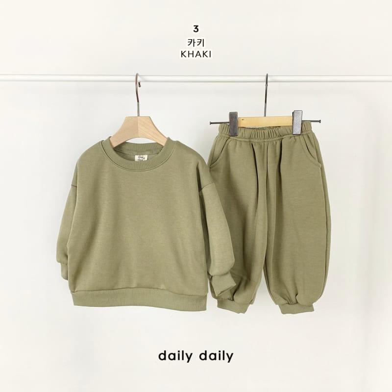 DAILY DAILY - Korean Children Fashion - #Kfashion4kids - Everyday Fleece Top Bottom Set  - 4