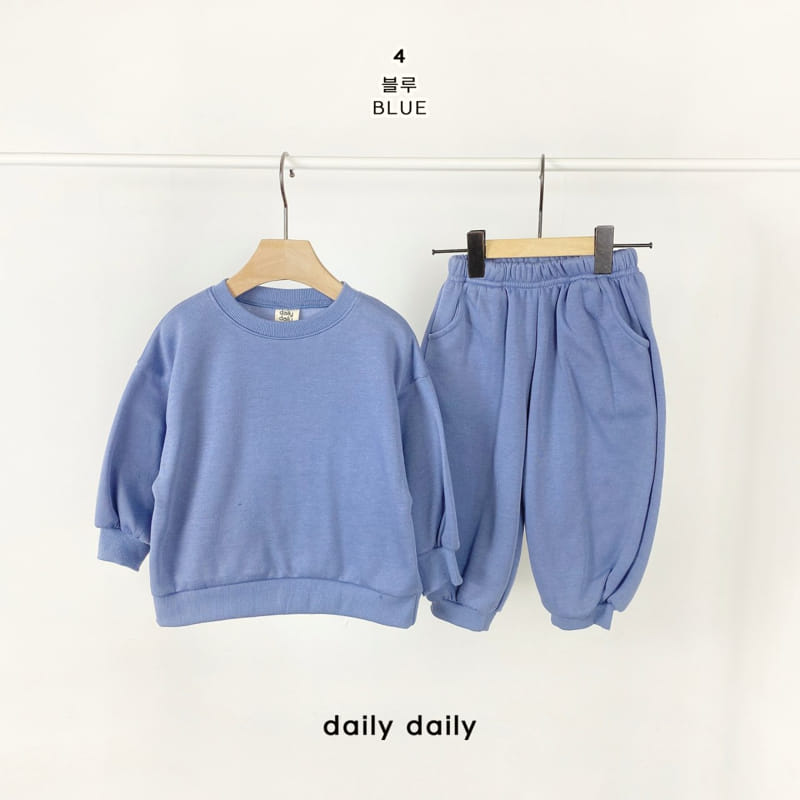 DAILY DAILY - Korean Children Fashion - #Kfashion4kids - Everyday Fleece Top Bottom Set  - 5