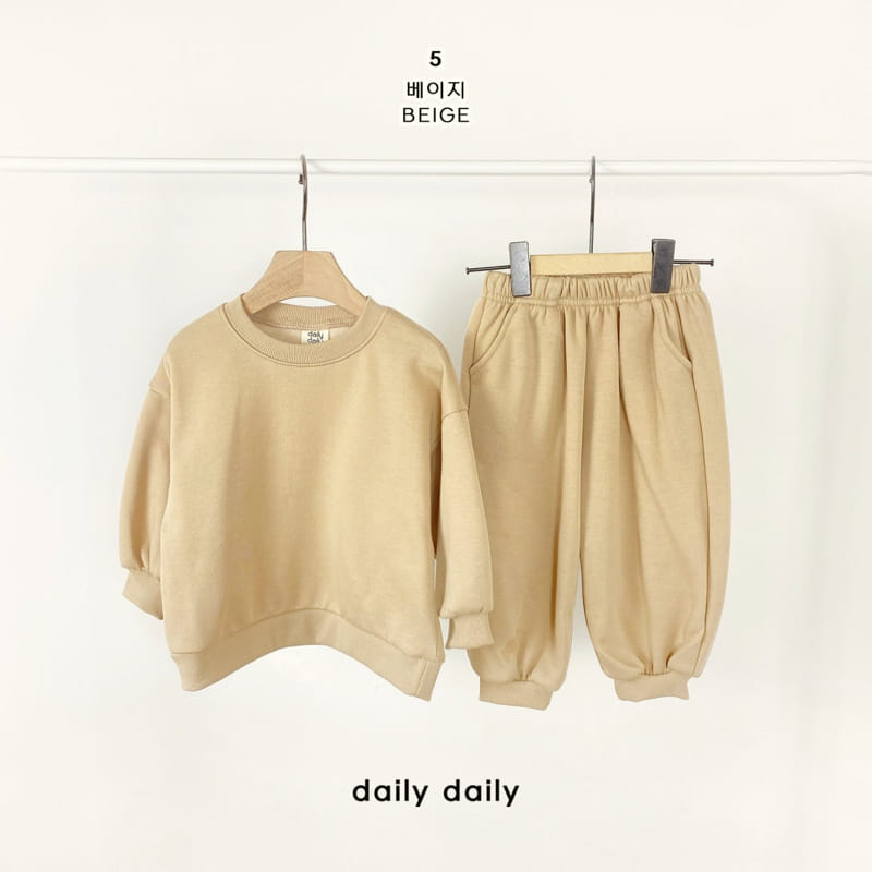 DAILY DAILY - Korean Children Fashion - #Kfashion4kids - Everyday Fleece Top Bottom Set  - 6
