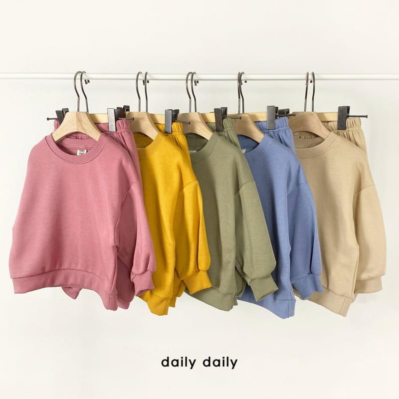 DAILY DAILY - Korean Children Fashion - #Kfashion4kids - Everyday Fleece Top Bottom Set  - 9