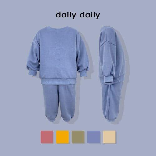 DAILY DAILY - BRAND - Korean Children Fashion - #Kfashion4kids - Everyday Fleece Top Bottom Set