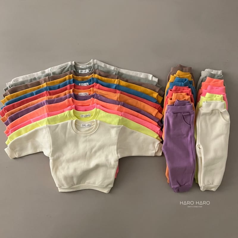 HARO HARO - BRAND - Korean Children Fashion - #Kfashion4kids - Nunnunana Top Bottom Set