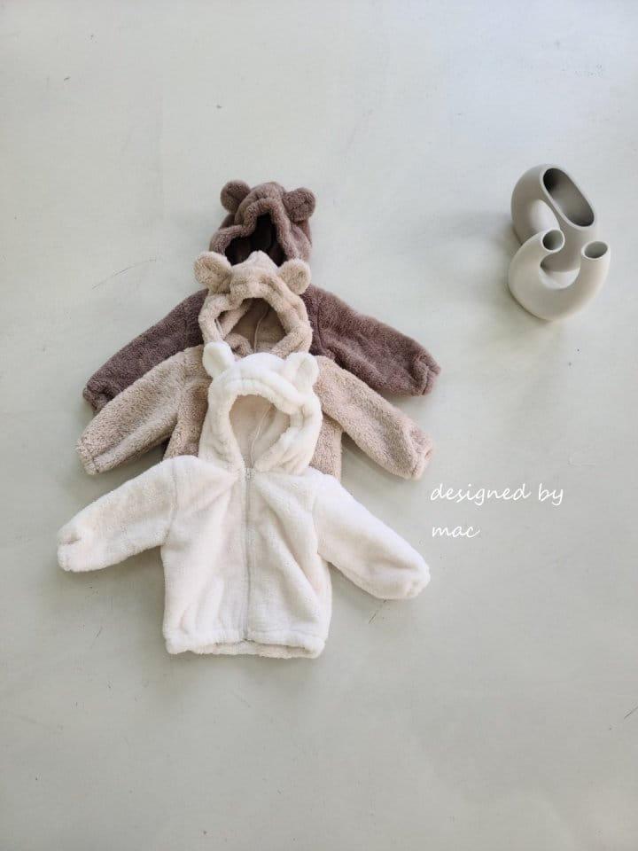 MAC - Korean Children Fashion - #Kfashion4kids - Bear Hoody Zip-up
