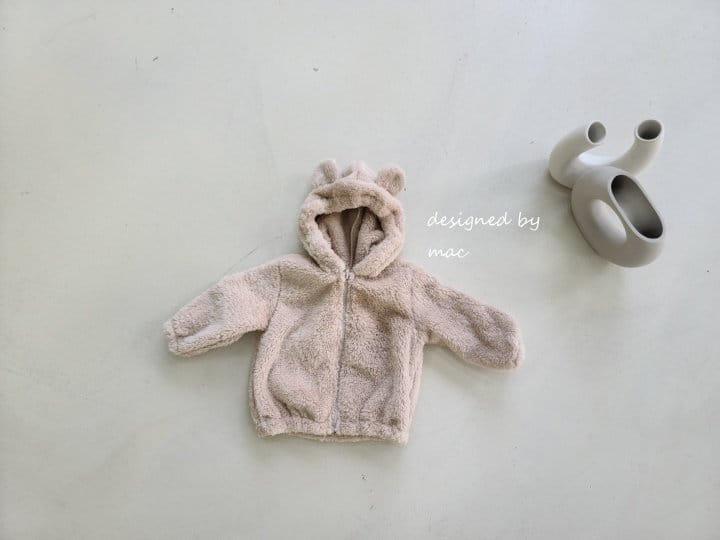 MAC - Korean Children Fashion - #Kfashion4kids - Bear Hoody Zip-up - 3