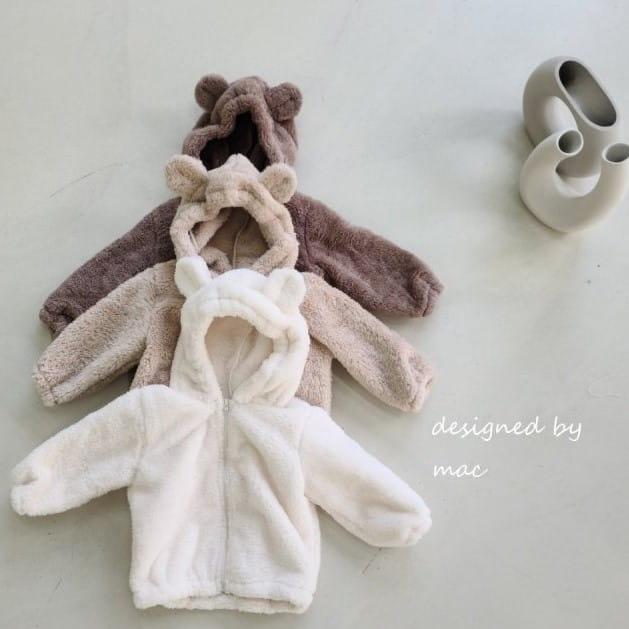 MAC - BRAND - Korean Children Fashion - #Kfashion4kids - Bear Hoody Zip-up