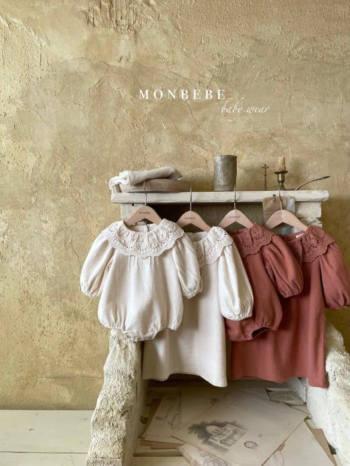 MONBEBE - Korean Children Fashion - #Kfashion4kids - Clover Pintuck One-piece - 4