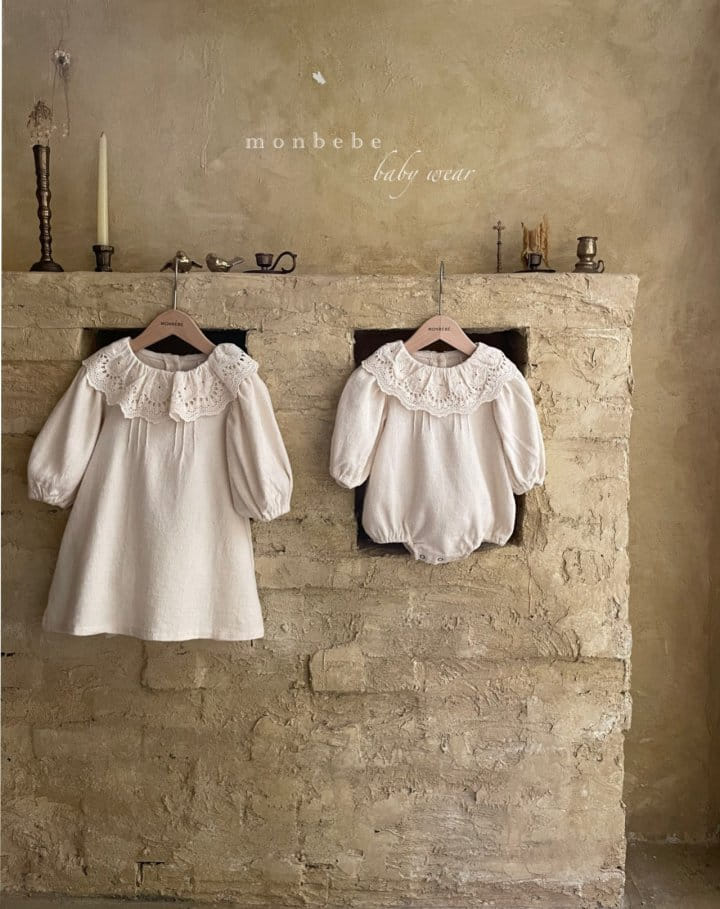 MONBEBE - Korean Children Fashion - #Kfashion4kids - Clover Pintuck One-piece - 5