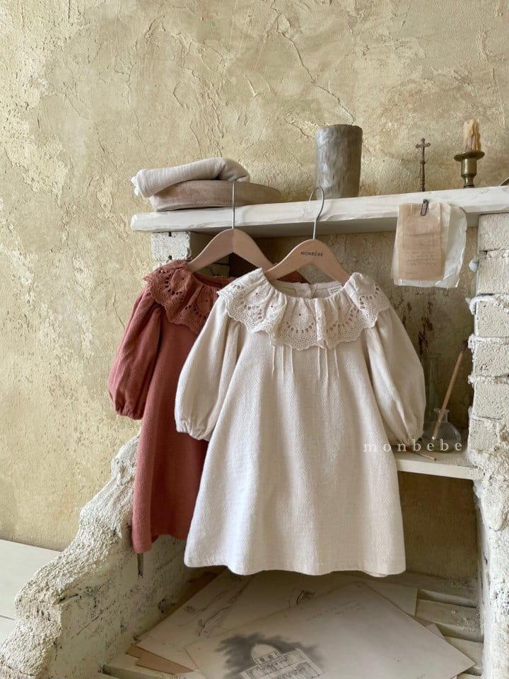 MONBEBE - BRAND - Korean Children Fashion - #Kfashion4kids - Clover Pintuck One-piece