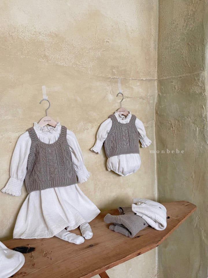 MONBEBE - Korean Children Fashion - #Kfashion4kids - Smocked One-piece - 12