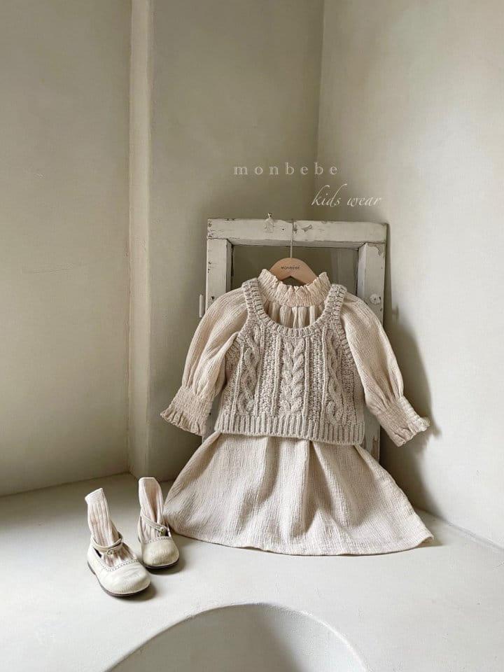 MONBEBE - Korean Children Fashion - #Kfashion4kids - Smocked One-piece - 6