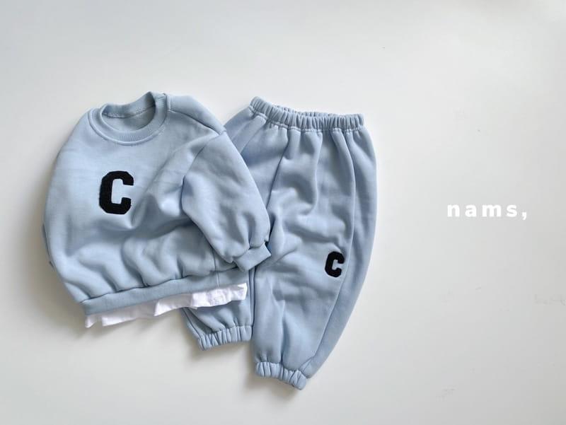 NAMS - Korean Children Fashion - #Kfashion4kids - C Embroidery Top Bottom Set