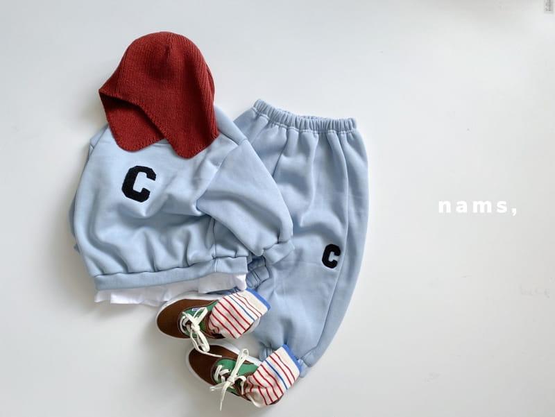NAMS - Korean Children Fashion - #Kfashion4kids - C Embroidery Top Bottom Set - 2