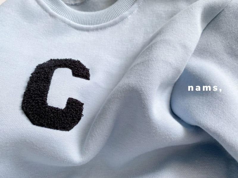 NAMS - Korean Children Fashion - #Kfashion4kids - C Embroidery Top Bottom Set - 4