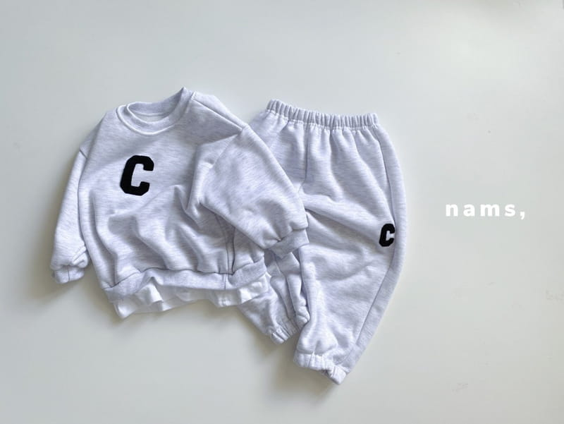 NAMS - Korean Children Fashion - #Kfashion4kids - C Embroidery Top Bottom Set - 5