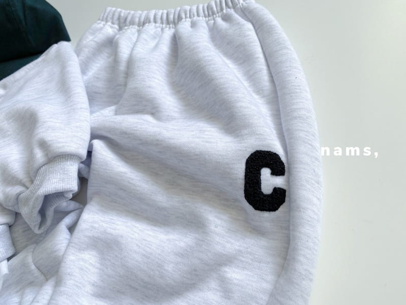 NAMS - Korean Children Fashion - #Kfashion4kids - C Embroidery Top Bottom Set - 8