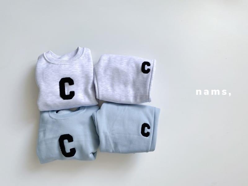 NAMS - BRAND - Korean Children Fashion - #Kfashion4kids - C Embroidery Top Bottom Set